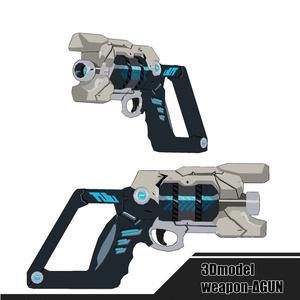 3Dモデル - ΔGUN -