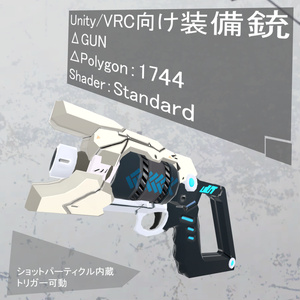 【VRC/MMD/UnityGame:改変OK】ΔGUN