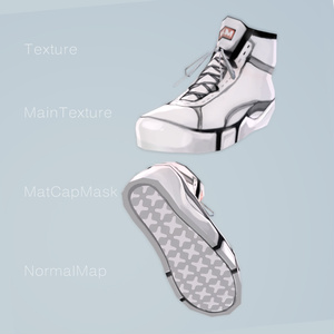 【3Dモデル 】Vroid base sneakers -Low&High- / Texture&3DModel