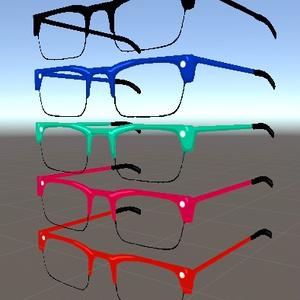 4ポリゴンメガネシリーズの第1弾 カラー5種