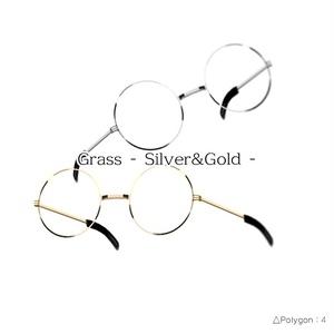 3Dモデル - Grass - silver&gold - 4poligon