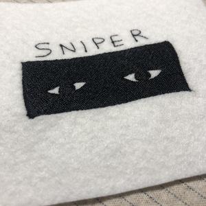 スナイパー刺繍ワッペン