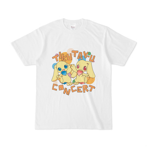 ちくたくTシャツシンフォニア ポピュラー 白
