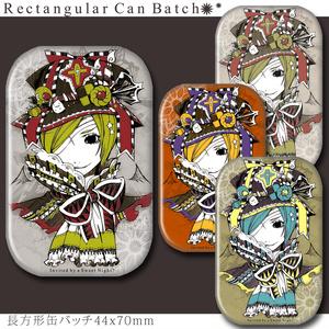 ハロウィン風 お菓子なリボン帽子缶バッチ