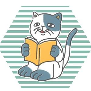 同人誌を読み終わった猫二田さん&神作品を見つけた猫二田さんシールセット
