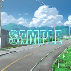 背景素材:田舎道1