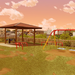 フリー背景素材:公園