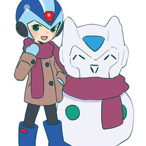 雪だるまとエックスのアクキー