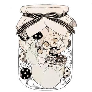 [goods]源氏兄弟うさぎアクリルキーホルダー