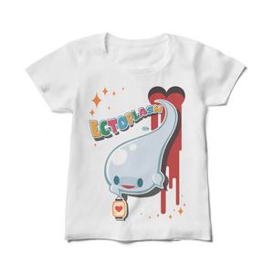 【Ectoくん】レディース白Tシャツ
