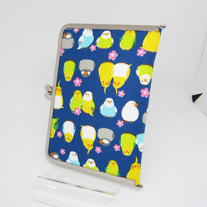 受注生産◆小鳥たちのがま口カードケース