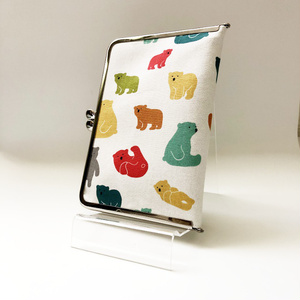 受注生産◆カラフル熊のがま口カードケース