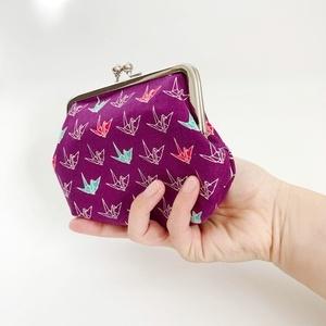 色違いあり◆折り鶴柄の親子がま口財布