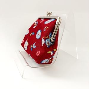 フクロウ柄の親子がま口財布