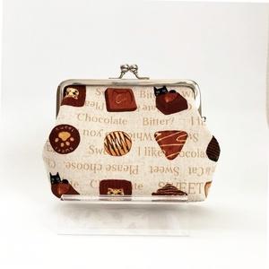現品限り◆チョコレートと黒猫の親子がま口財布