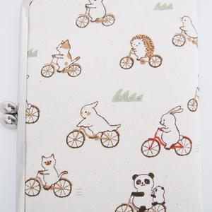受注生産◆自転車アニマルのがま口カードケース
