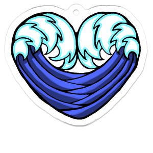 WAVE・HEART アクリルキーホルダー