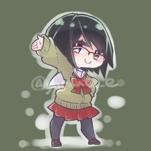 【お布施用】黒髪眼鏡SNSアイコン