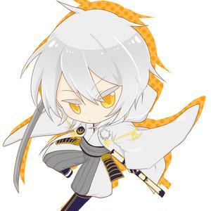 鶴丸アクリルキーホルダー