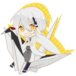 鶴丸×折り鶴アクリルキーホルダー