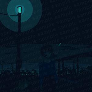 【でかドットgifアニメ】さよなら【壁紙】