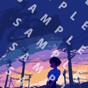 【でかドットgifアニメ】「青く」の壁紙