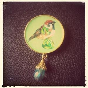 小鳥ブローチ