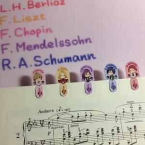 【楽譜や本の目印にどうぞ♪】紙製クリップ♪