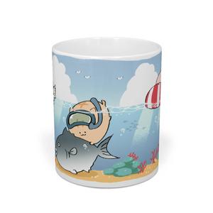 にわねこ(海)マグカップ