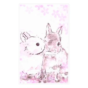 仲良しうさぎ〈桜〉スマホスタンド