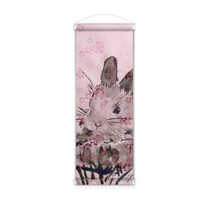 墨うさぎ〈桜〉タペストリー