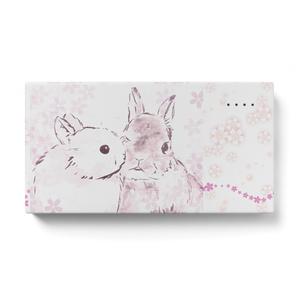 仲良しうさぎ〈桜〉モバイルバッテリー