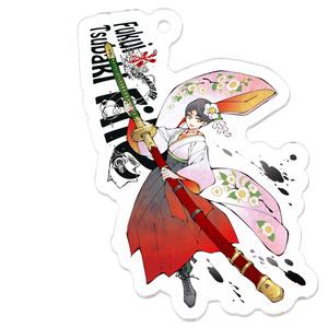 アクリルキーホルダー(椿&千代鶴國安)