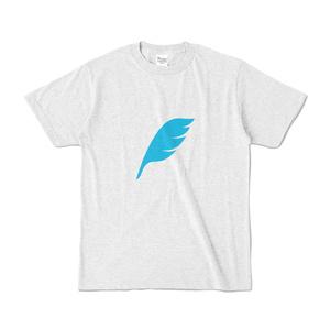 feather カラーTシャツ アッシュ