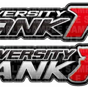 Fランク大学エンブレム(2種セット) ステッカー【KM05】