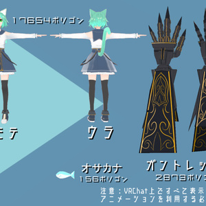 VRアバター向け3Dモデル【TetraBox】