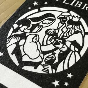 切り絵の聖夜の蔵書シール○ 10枚set