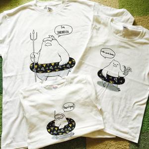 とりかごTシャツ(かき氷のっぺ(ブルーハワイ))