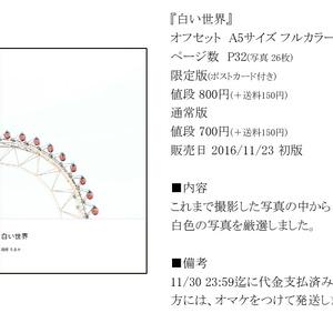 【限定版】白い世界(写真集)