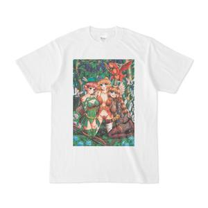 果樹園に座すエルフの姉妹 Tシャツ