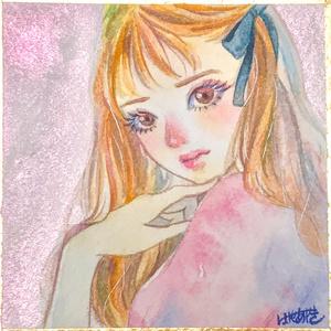 【色紙ドローイング】キラキラ(b)