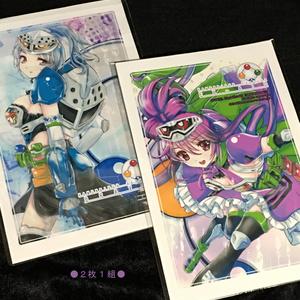 ライダー少女ポストカード【EX-AID Set】