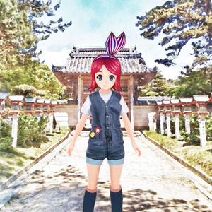 住吉神社の参道(北向き)