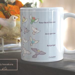 オリジナル鳥マグカップ