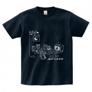 SCP-CATS ネイビー Tシャツ 【収デン3】