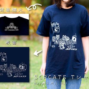 SCP-CATS ネイビー Tシャツ 【収デン3】【収デン4】