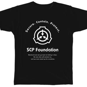 SCP財団 ロゴTシャツ3 ブラック【収デン3】【収デン4】