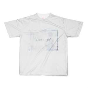 distance* white ver. polyester T-shirt