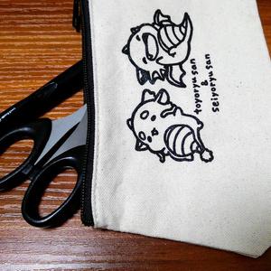 東洋竜さんと西洋竜さん/ポーチ