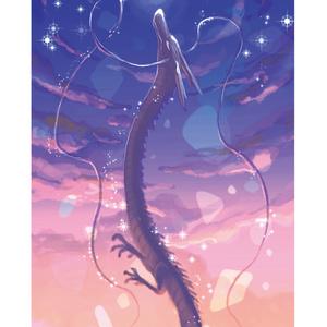 東洋竜さんと西洋竜さん(大)/ポストカード